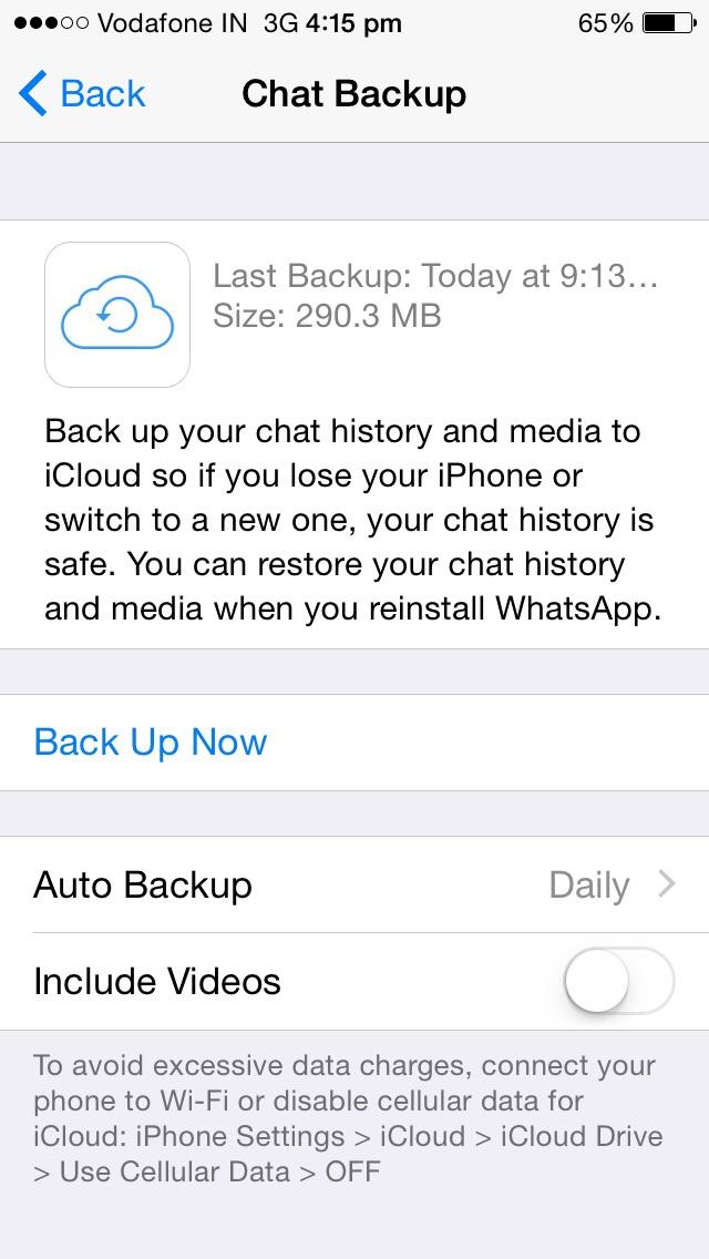 Как сделать backup для iphone