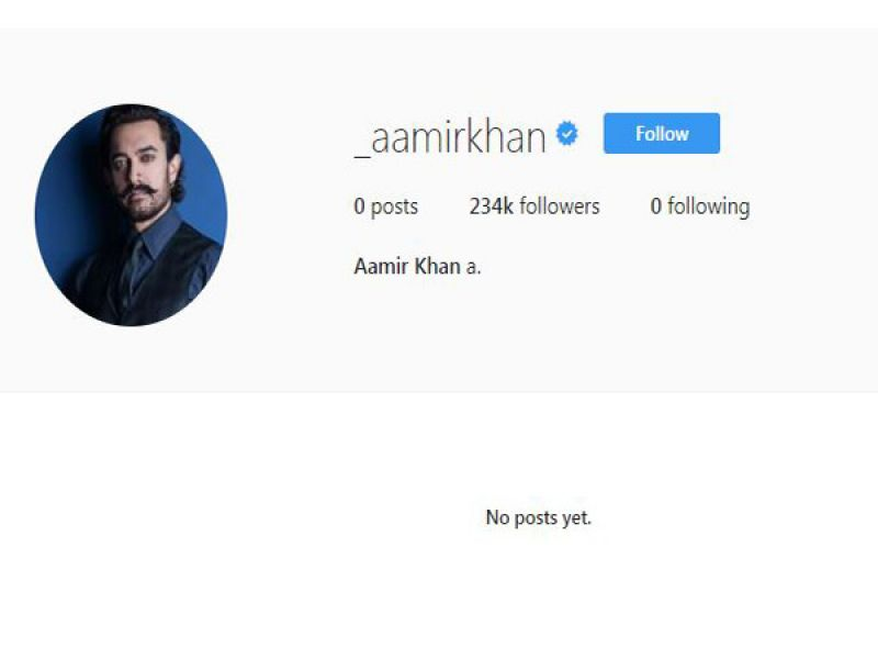 Aamir makes Instagram debut on 53rd b'day; 2 lakh followers already before 1st post