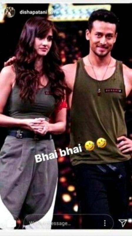 Disha Patani calls Tiger 'bhai'.