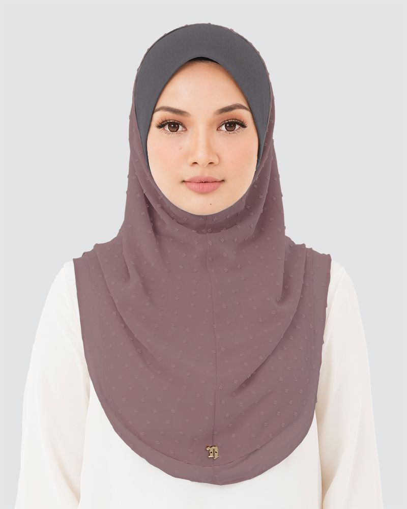 IRIS DENIM - SMOKEY PALE MAUVE-BROWN