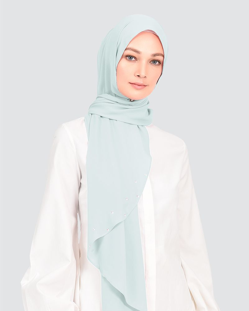 LADY WARDA - DUSTY POWDER BLUE