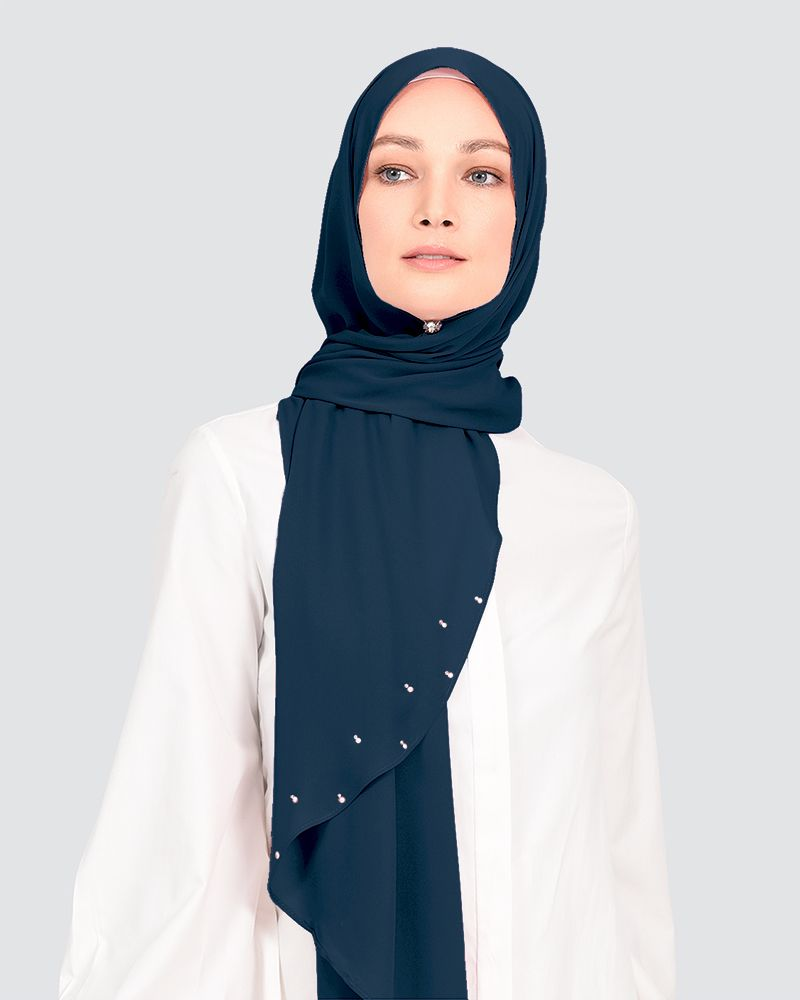LADY WARDA - MEDIUM DUSTY NAVY BLUE