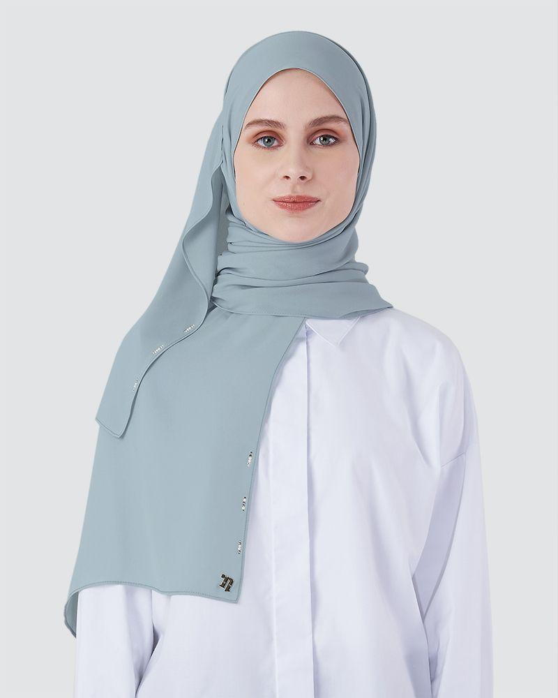 LIYA SHAWL - DARK POWDER BLUE