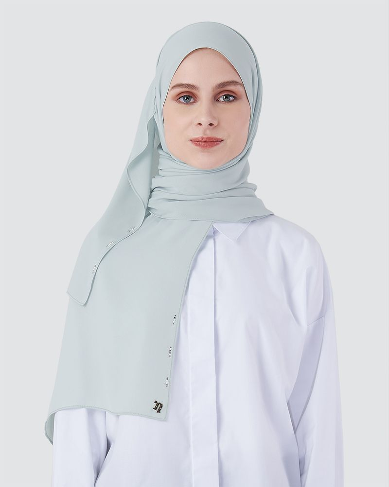 LIYA SHAWL - DUSTY POWDER BLUE