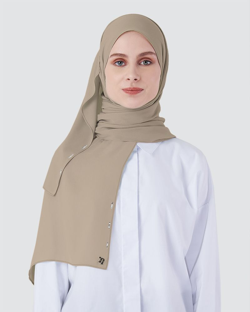 LIYA SHAWL - LIGHT DUSTY MUSHROOM