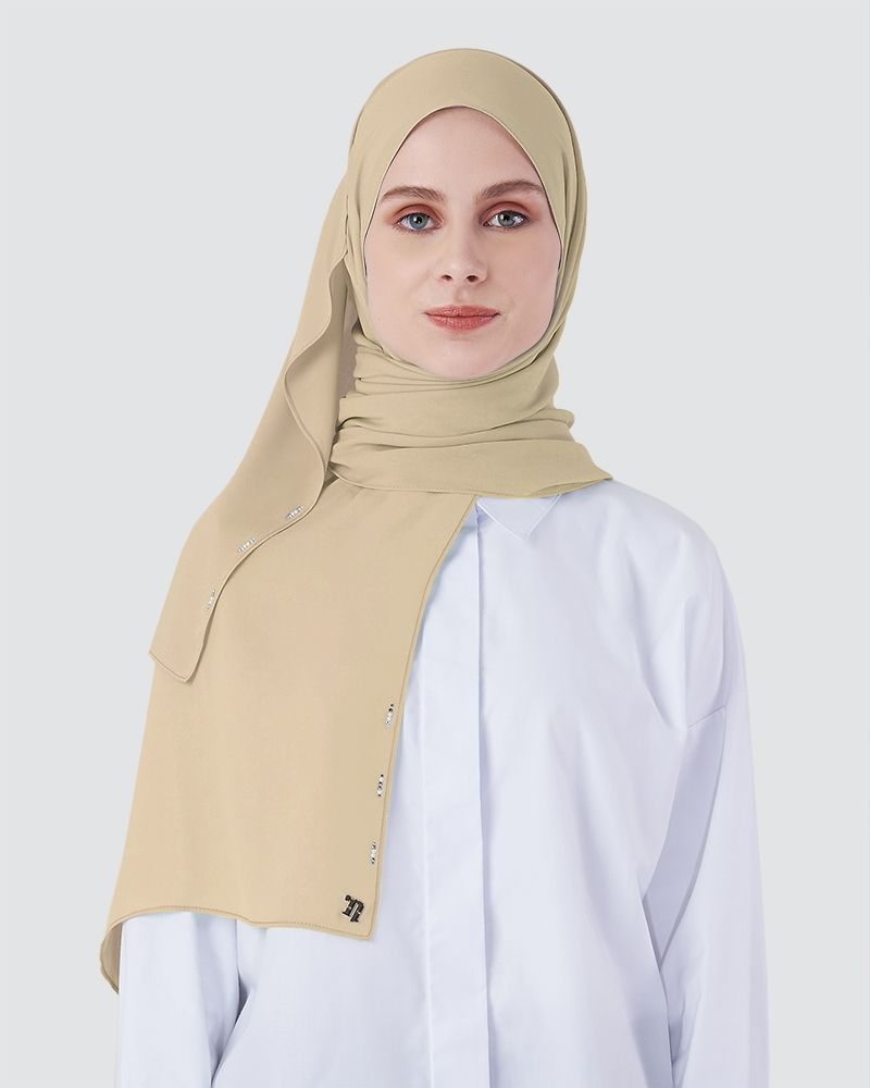 LIYA SHAWL - PALE BROWN