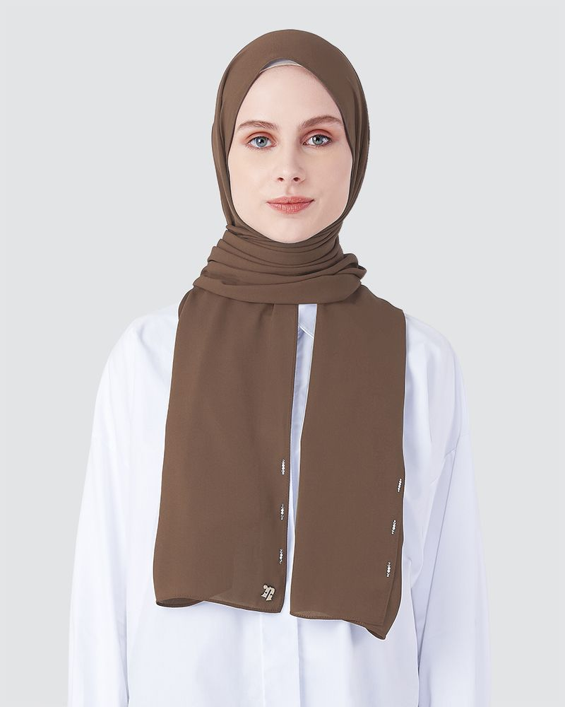 LIYA SHAWL - SMOKEY LIGHT BROWN