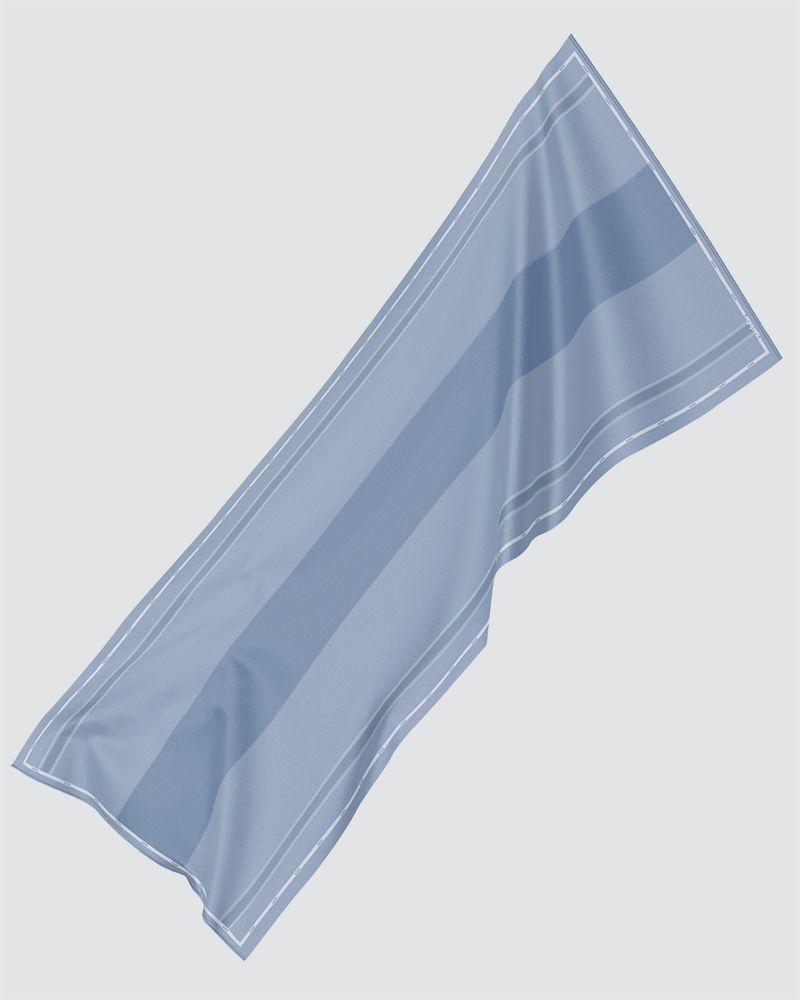 AIRI PRINTED SHAWL - PALE POWDER BLUE