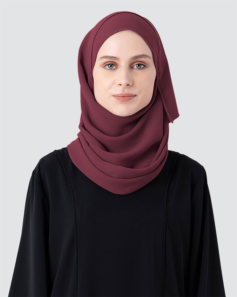 MILDA SHAWL - DARK RED