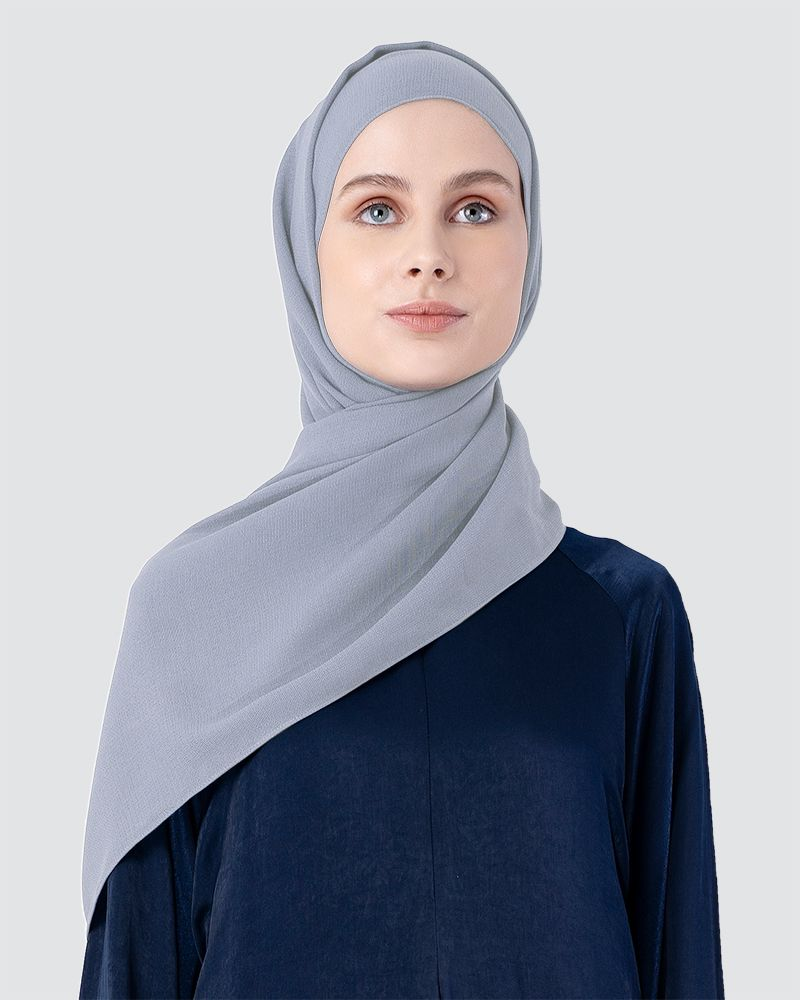 MILDA SHAWL - LIGHT GREY-BLUE