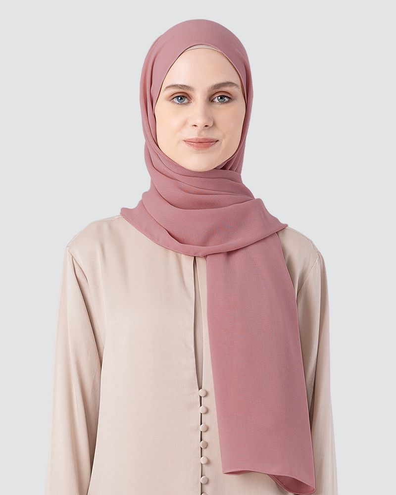 MILDA SHAWL - MEDIUM DUSTY PALE RED