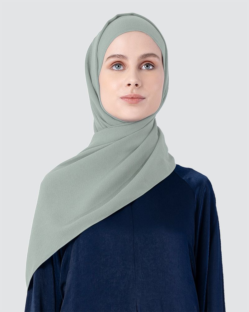MILDA SHAWL - MEDIUM LIGHT CYAN-GREEN