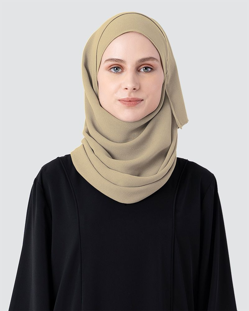 MILDA SHAWL - PALE BROWN