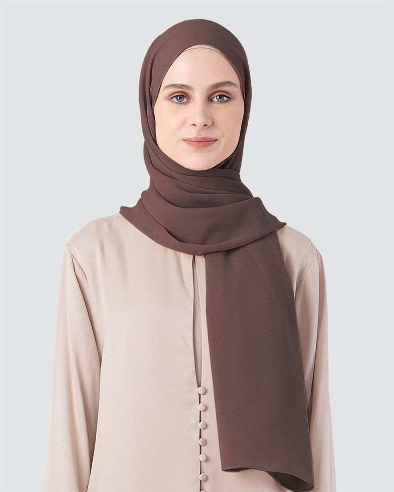 MILDA SHAWL - SMOKEY LIGHT BROWN