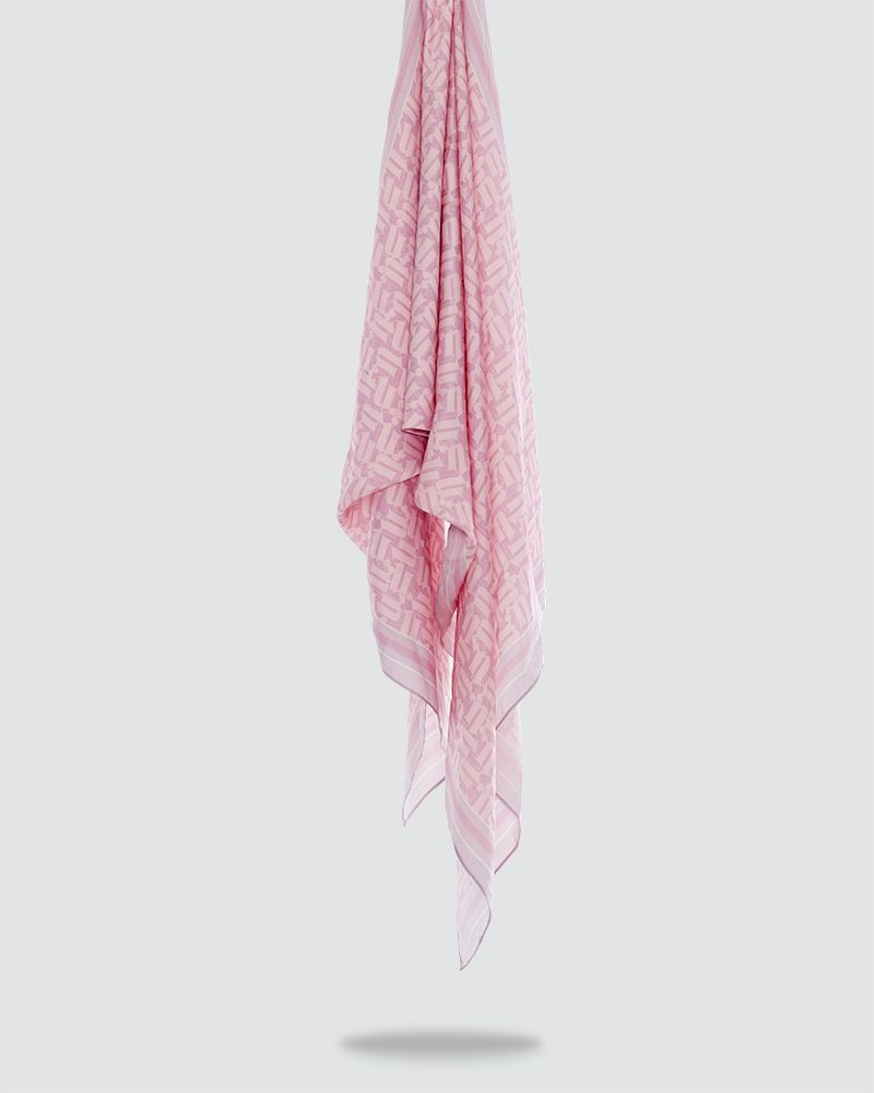 MONO PRINTED SHAWL - VERY LIGHT PINK