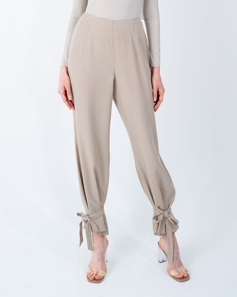 TENCEL SMART PANTS-BEIGE