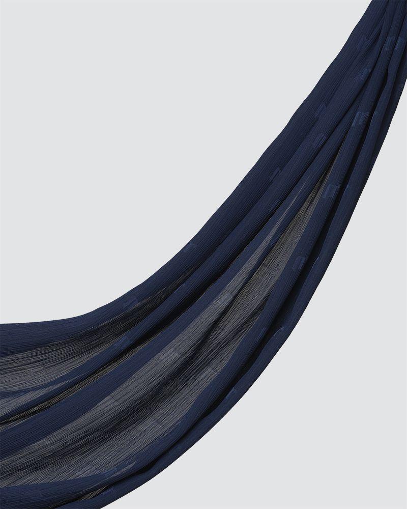 MODA WOVEN SHAWL - DARK BLUE