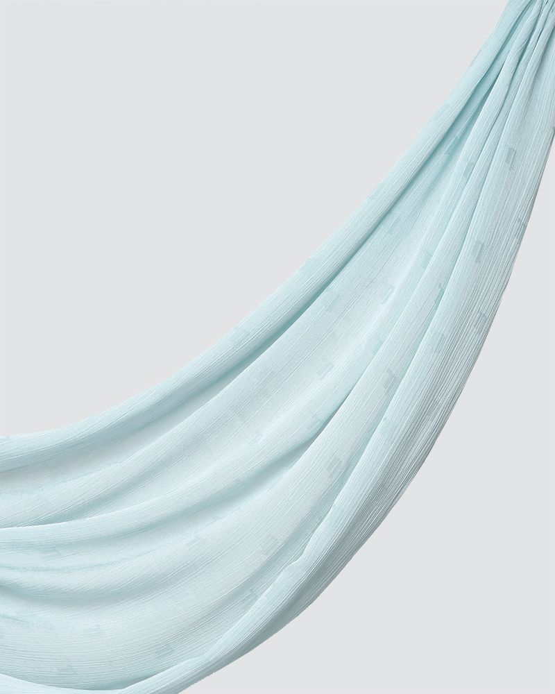 MODA WOVEN SHAWL - VERY LIGHT BLUE