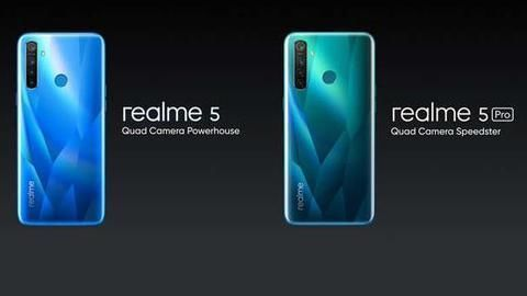 Realme 5 Pro, Realme 5 launched in India: Details here