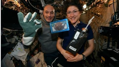 NASA astronauts baked 'space cookies' for the first time