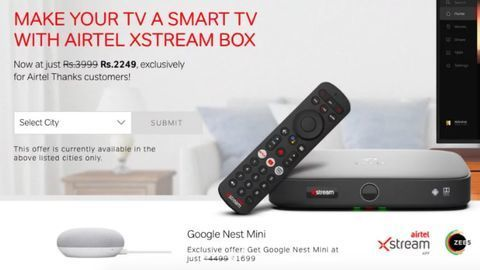 Airtel Xstream users can buy Google Nest Mini for ₹ 1,699