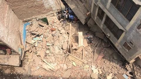 Delhi: Building collapses, students feared trapped