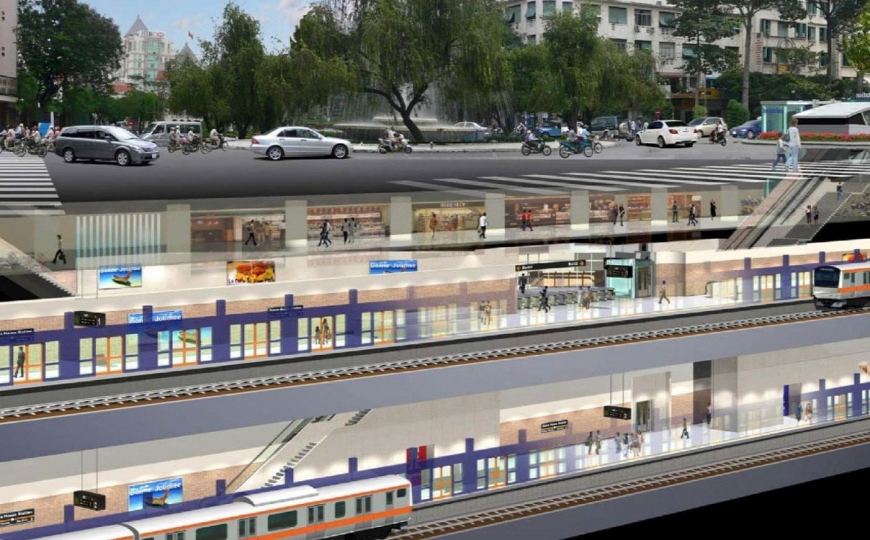 Construction done, Saigon metro line ready for equipment installation