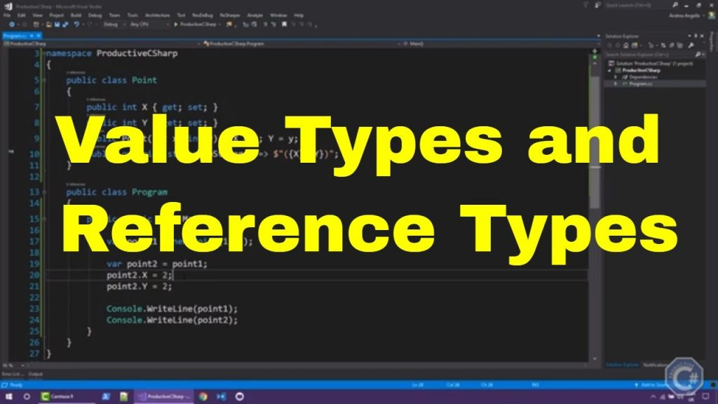 The main differences Value types and reference types