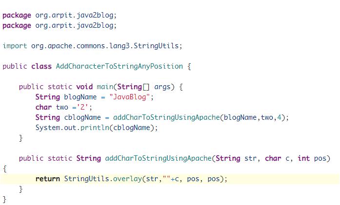 example of Apache common's StringUtils