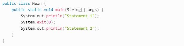 java stop program example