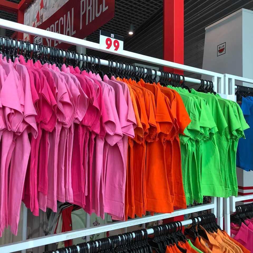 เสื้อยือหลากสี