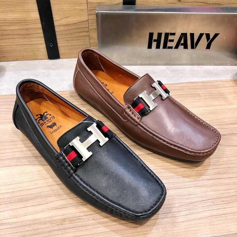 Heavy men leather shoes