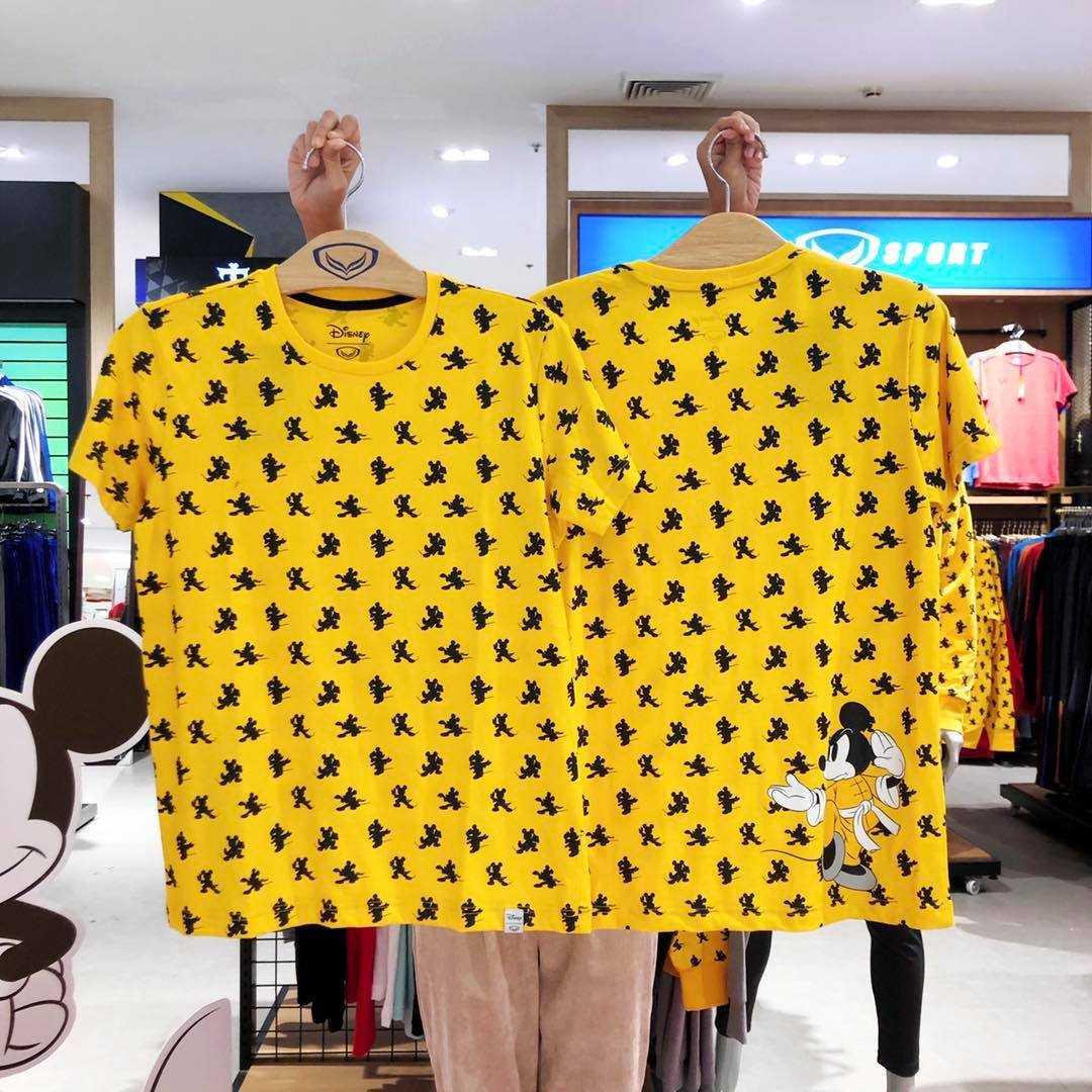 เสื้อยืดคอกลมสีเหลือง