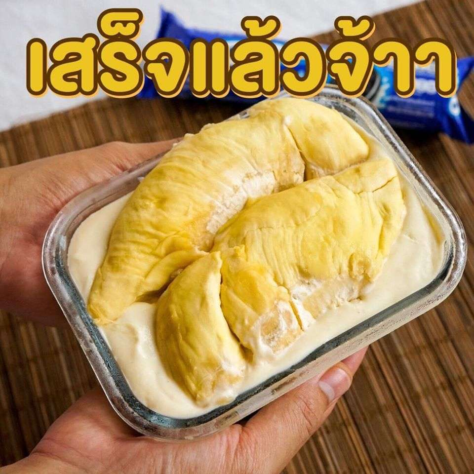 6 durian cheese pie