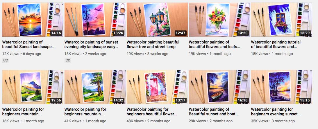 รวม 15 ช่อง Youtube สอนวาดสีน้ำ ไม่ต้องเสียเงินเรียน ก็เซียนได้