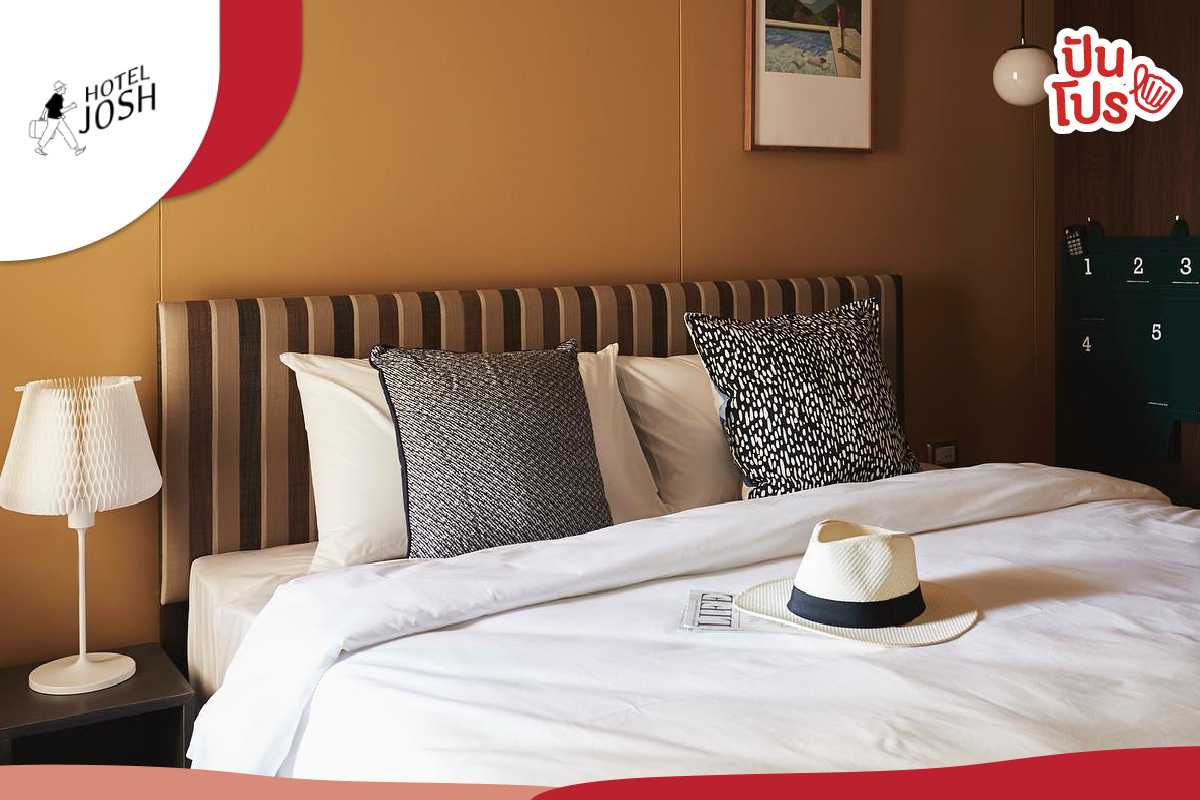 JOSH Hotel จองตอนนี้! ได้ห้องพักรวมอาหารเช้า เริ่มต้นเพียง 950 บาท พร้อมส่วนลดอื่นๆ อีกเพียบ!!
