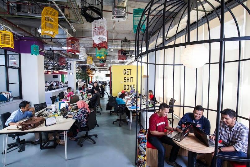 6 Desain Kantor Startup Di Jakarta Yang Sukses Memanjakan Karyawannya Artikel Spacestock