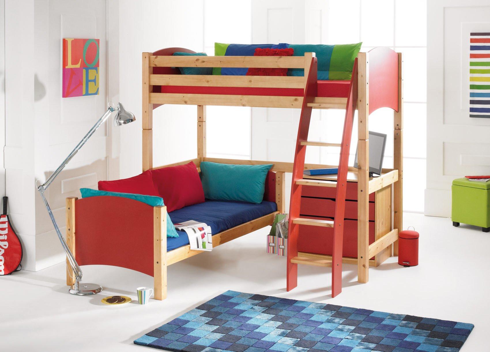 Desain Bunk Bed Berbentuk L