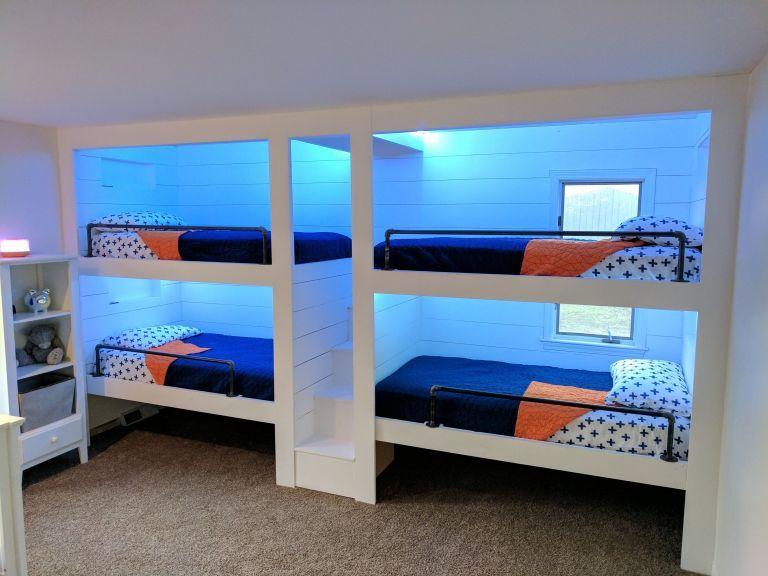 Desain Bunk Bed 4 Orang