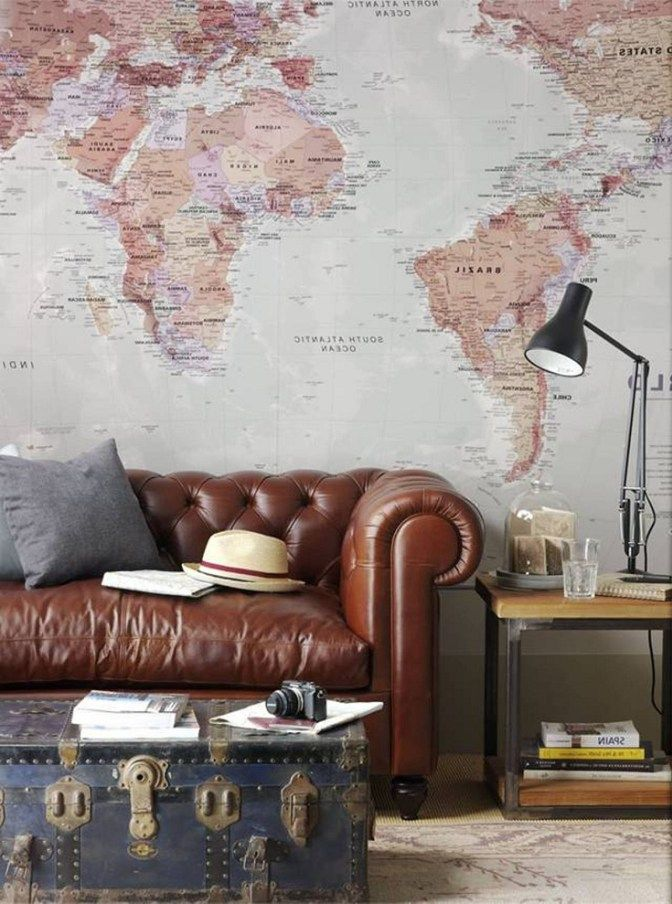 Desain Wallpaper Peta Dunia