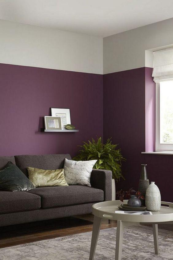 Warna ungu ruangan