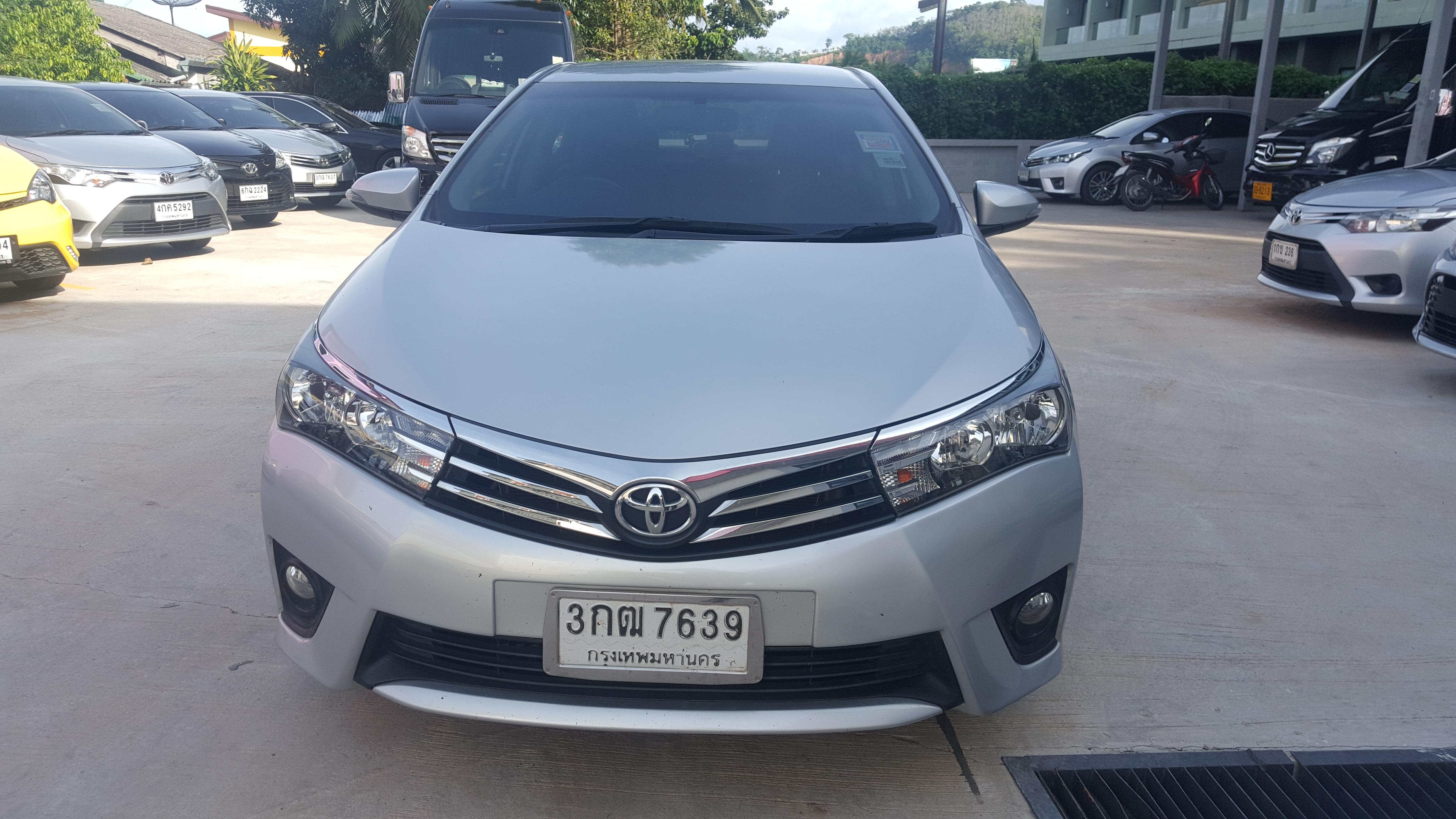 เช่ารถ รถเช่า ภูเก็ต Toyota Altis 2014