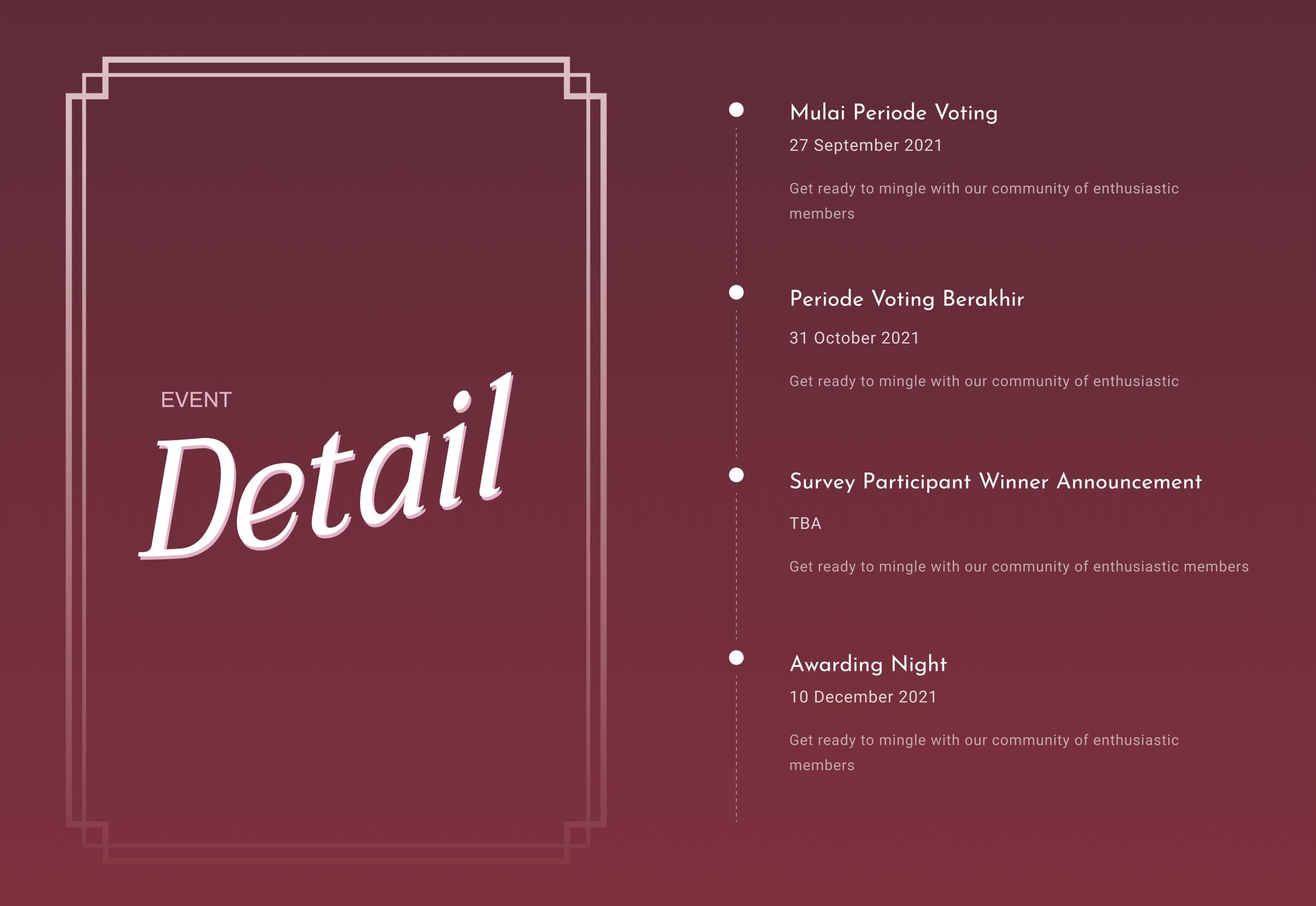 event schedule desktop