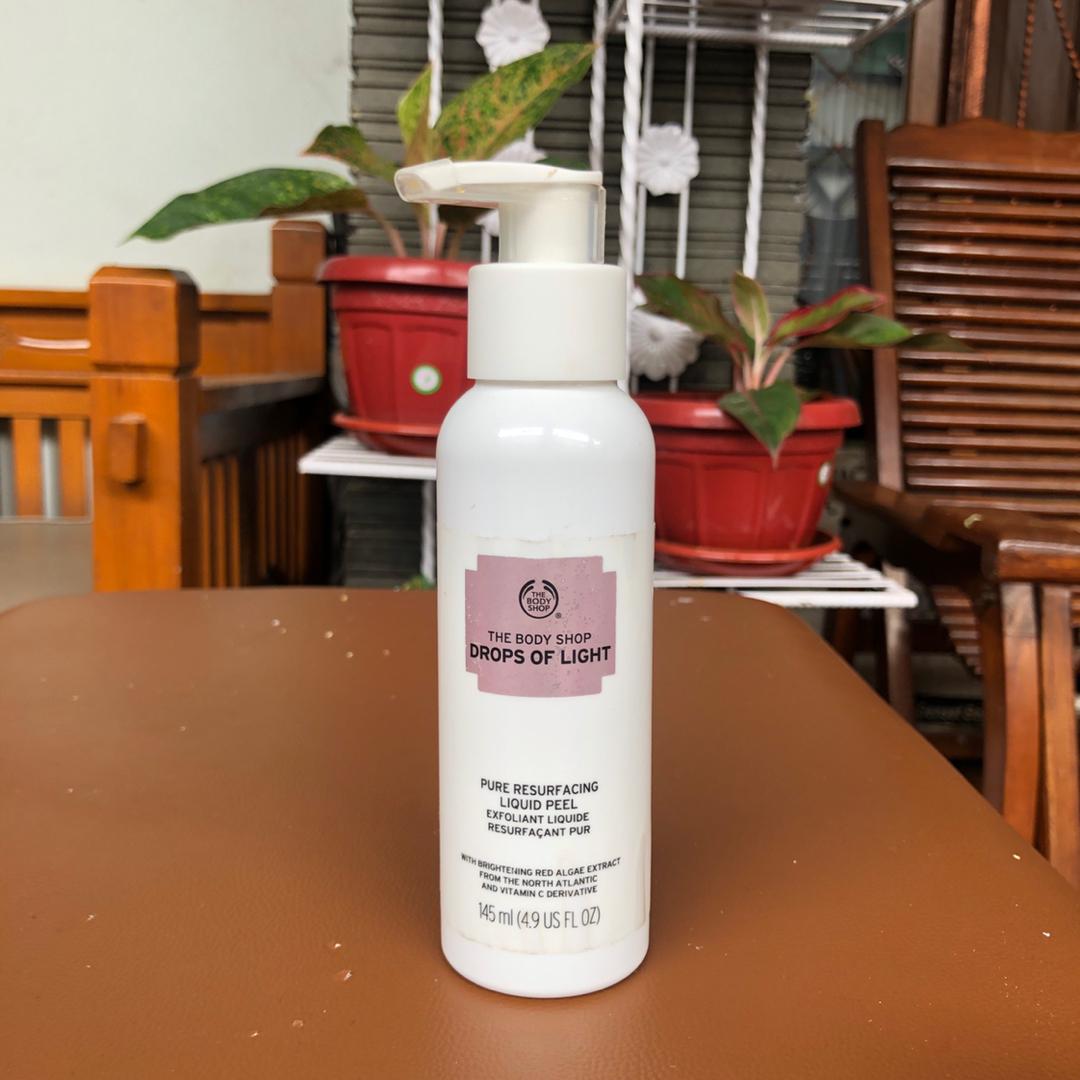 The Body Shop Drops Of Light Pure Resurfacing Liquid Peel Liquid Peel Review Female Daily