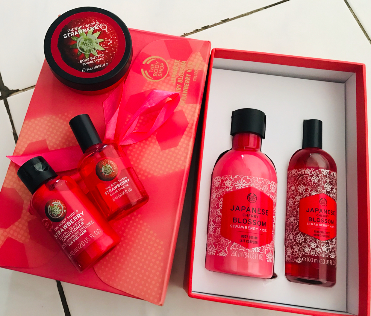 The Body Shop Japanese Cherry Blossom Strawberry Kiss Fragrance Mist Review Female Daily