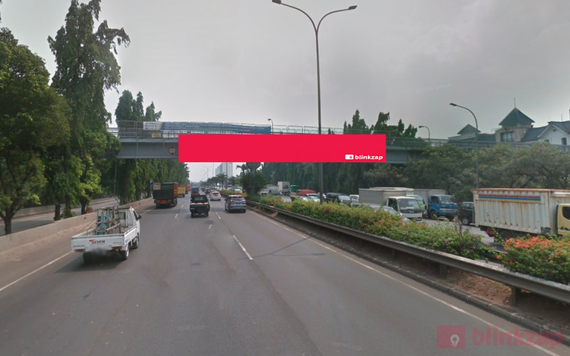 Sewa Billboard - Billboard JPO JORR KM.20+150 B 3x20, Kota Jakarta Selatan - kota jakarta selatan