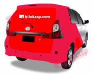 sewa media Vehicle Branding Car Branding - Sicker Half Wrap Surabaya Choose City Other
