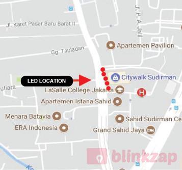 Sewa Digital Signage - Led Citywalk Sudirman - kota jakarta pusat