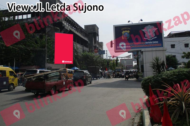 Sewa Billboard - Baliho Jl H M Yamin Simpang Jl Aksara - kota medan