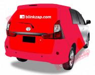 sewa media Vehicle Branding Car Branding - Sicker Half Wrap Bandung Choose City Other